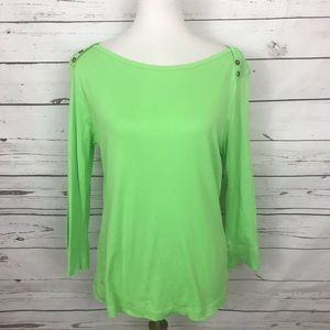 Lilly Pulitzer 3/4 Sleeve Tee Green Size Large